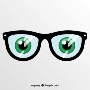 Glasses with eyes